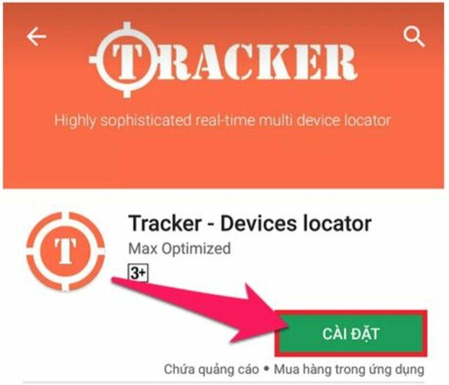 phần mềm định vị Tracker Devices Locator