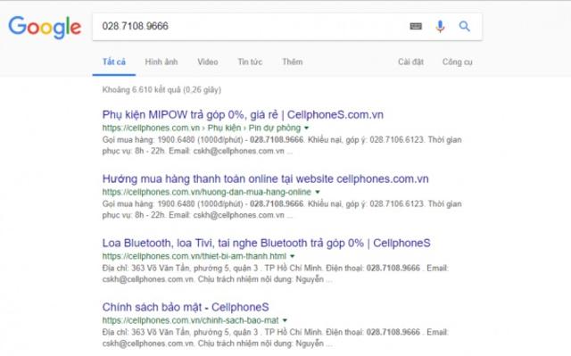 tra cứu bằng google