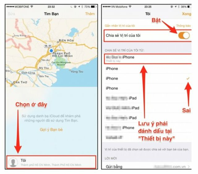 ứng dụng find my friend trên iphone 2