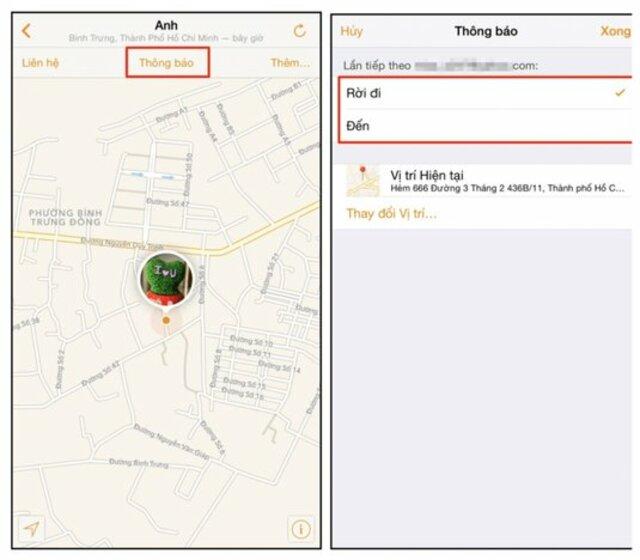 ứng dụng find my friend trên iphone 7