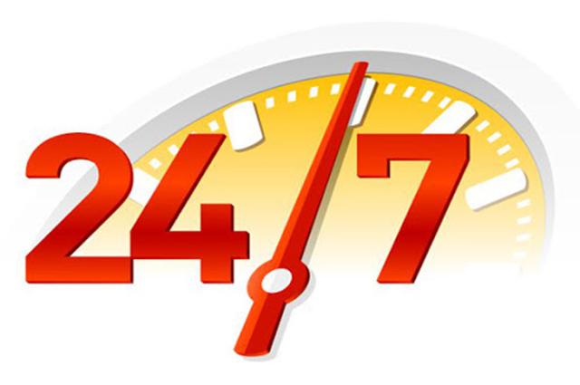 Thời gian hỗ trợ 24/7 kể cả ngày lễ