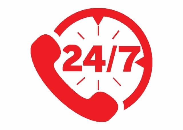 Thời gian làm việc 24/7 kể cả ngày lễ