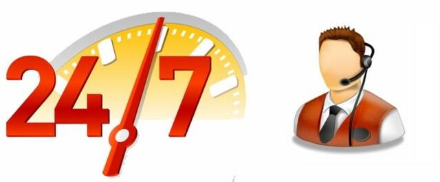 Thời gian hỗ trợ 24/7